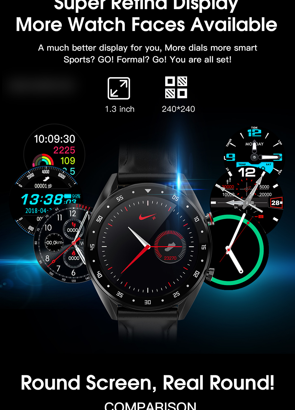 L7 relógio inteligente pulseira de fitness ip68