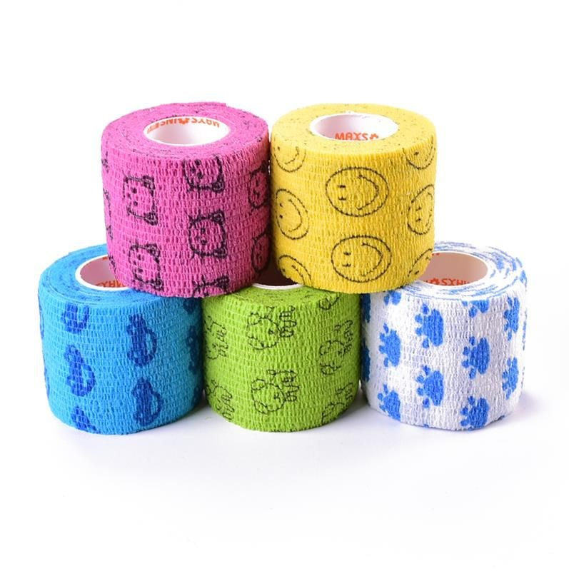 New Cartoon Self-Adhesive Elastic Bandage First Aid Medical Health Care Sport Body Treatment Gauze Tape First Aid Tool 2.5-7.5cm