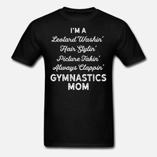 Men t shirt Gymnastics Leotard Washin Mom White Gymnast Light tshirts Women-tshirt(China)