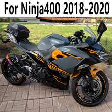 Motorcycle Full Fairing Kits Fit Ninja400 18 19 20 Design Striping For Kawasaki Ninja 400 2018-2020 Bodywork Cowling