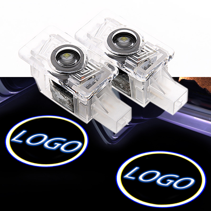 2PCS Car LED Door Welcome Logo Light Laser Decoration Lamp Shadow Projector Light For Volvo Car Accessories