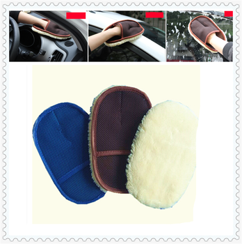 Auto parts wool soft wash gloves motorcycle care waxing rag cleaning for BMW X Series E84 X1 X3 E83 F25 X5 E53 E70 F80 M3 image