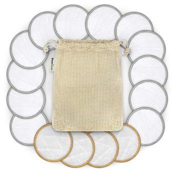 16pcs/set Cotton Rounds Reusable Chemical Free Cotton Pad Washable Makeup Remover Cotton Pad For Sensitive Skin Daily Cosmetics