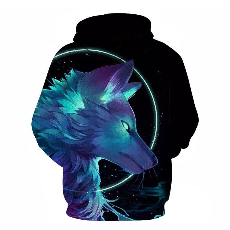 Wolf Printed Women 3d Hoodies Brand Sweatshirts Girl Boy Jackets Pullover Fashion Tracksuits Animal Streetwear Lovers Sweatshirt 80