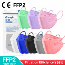 CE FFP2 Mascarillas Colored FPP2 Homologada 4 Layers KN95 Mask Fish Shape Korean FFP2mask Adult Mascarilla FPP2 Certificada FFP3