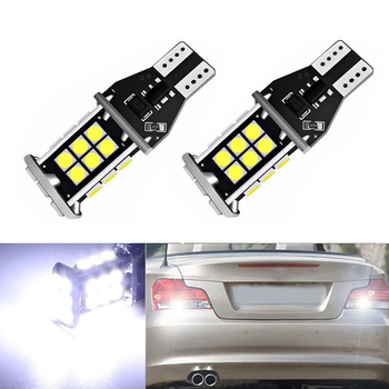 2x Canbus T15 LED Reverse Light W16W 3030 24SMD Car LED Error Free Backup Light Reverse Light Bulb For BMW E39 E60 E90 E46 image