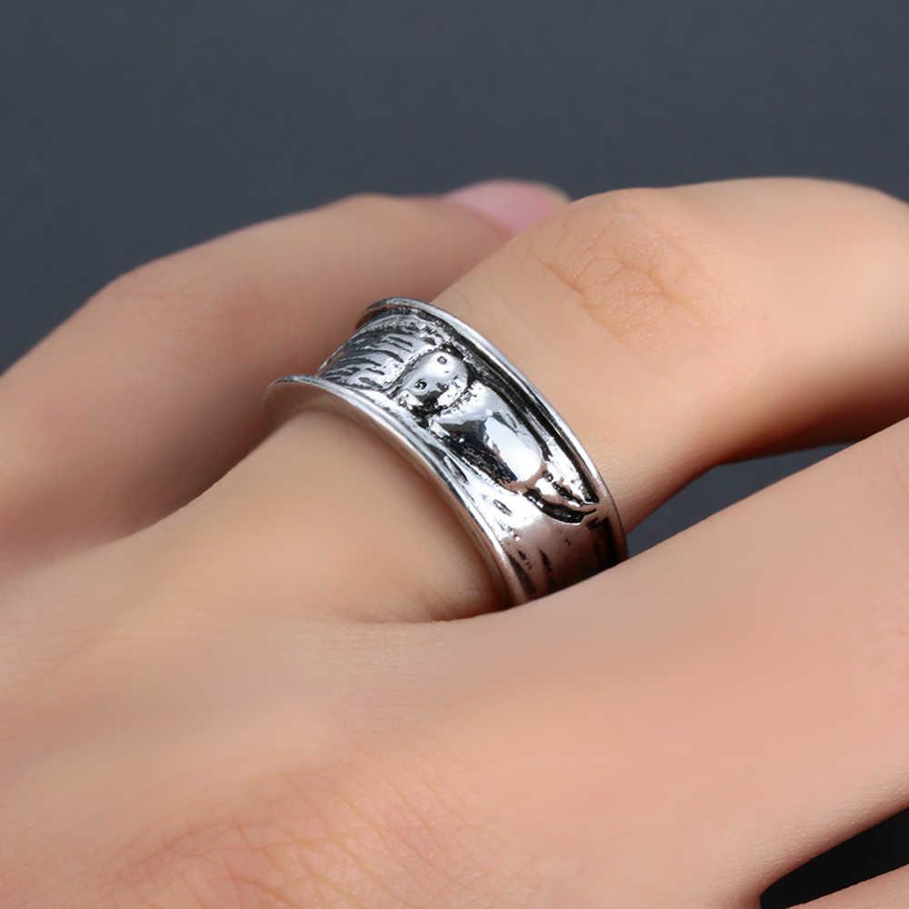 Noorse Mythologie Wolf Fenrir Verdedigen Tempel Raven Amulet Sieraden Vriendje Heren Viking Rvs Ring