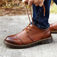 Top Quality Cow Leather Mens Casual Shoes Lace-up Sneakers G