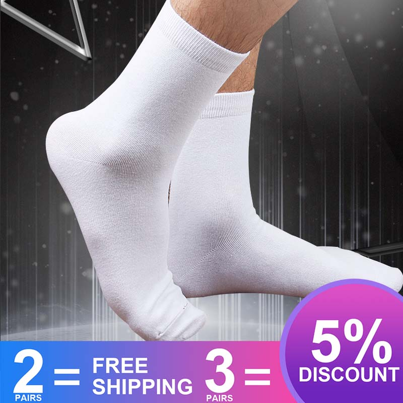 Mens Dress Socks Business Black White Navy Blue Red Socks Thick Antibacterial Hygroscopic Breathable Bamboo Socks -8