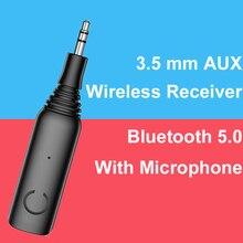 3,5 AUX беспроводной приемник Bluetooth 5,0 адаптер для динамиков наушников CVC передача музыки с микрофоном Handsfree стерео