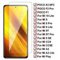 11D Vetro di Protezione Per Xiaomi Poco X3 NFC F1 F2 Pro Temperato Protezione Dello Schermo Per Mi 10 Lite Mi9 9 SE 9T CC9 CC9E A3 Lite Pellicola