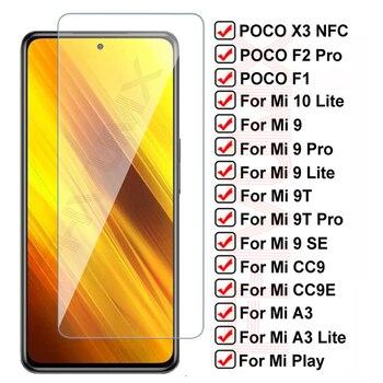 11D Protective Glass For Xiaomi Poco X3 NFC F1 F2 Pro Tempered Screen Protector For Mi 10 Lite Mi9 9 SE 9T CC9 CC9E A3 Lite Film