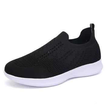 CINESSD 2020 Women Sneakers Vulcanized Shoes Sock Sneaker Women Summer Slip On Flat Black Shoes Women Loafers tenis feminino