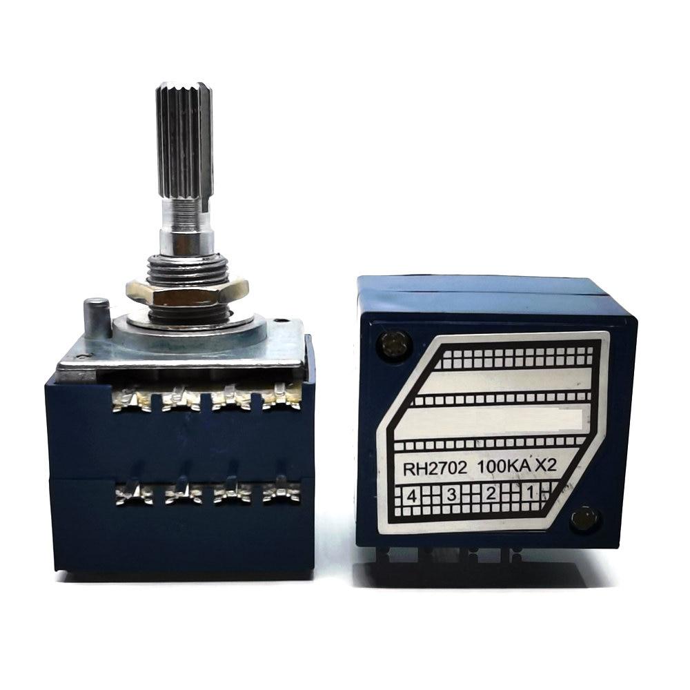 1 шт. новый роторный потенциометр RH2702 DIP-8 с двойным блоком 50K 100K 250K DIP8 50KAX2 00KAX2 250KAX2