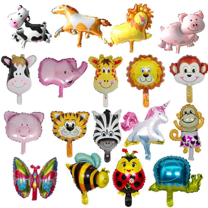 1pcs การ์ตูนหมู Bee Cow Mini บอลลูนอาบน้ำเด็ก Ballon สัตว์ฟอยล์บอลลูนอากาศตกแต่ง Globos Baloes De festa