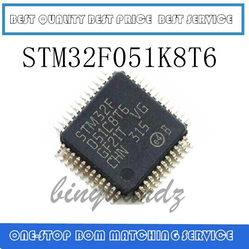 2pcs/lot STM32F051K8T6 STM32F051K8 QFP-32