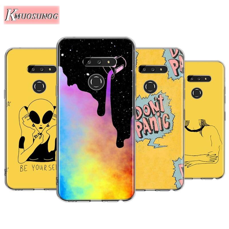 Yellow Aesthetic For LG W30 W10 V50S V50 V40 V30 K50S K40S K30 K20 Q60 Q8 Q7 Q6 G8 G7 G6 Thinq Phone Case