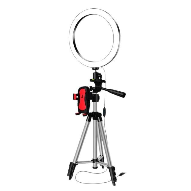 Top Angebote LED Selfie Ring Licht mit Telefon Halter Fotografie Dimmbare Youtube Video Live Foto Studio Licht USB Stecker (16Cm)