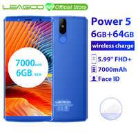 "LEAGOO Power 5 Smartphone 5,99 ""FHD + 18:9 RAM 6GB ROM 64GB Android 8.1 MT6763 Octa Core 7000mah Dual Hinten Cams 4G Handy"