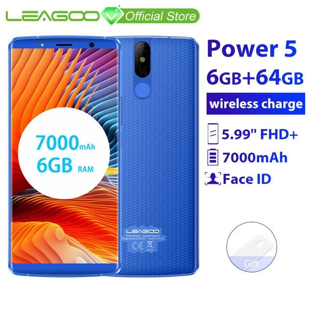 "Leagoo Power 5 Smartphone 5.99 ""Fhd + 18:9 Ram 6 Gb Rom 64 Gb Android 8.1 MT6763 Octa Core 7000 Mah Dual Achter Cams 4G Mobiele Telefoon"