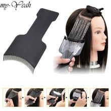 Professional Hair Salon Coloração Destacando Tingimento Tingimento Dispensa Pincel Aplicador Pente DIY Placa Pro Salon Styling Ferramenta