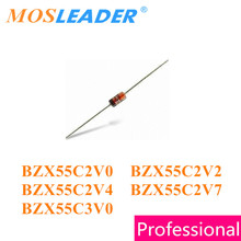Mosleader 1000PCS DO35 BZX55C2V0 2V BZX55C2V7 BZX55C2V4 BZX55C2V2 2.2V 2.4V 2.7V BZX55C3V0 3V 0.5W 1/W Zeners 2 produtos Chineses