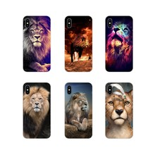 Cool King Lion Drawing Art For Apple iPhone X XR XS 11Pro MAX 4S 5S 5C SE 6S 7 8 Plus ipod touch 5 6 Accessories Phone Cover Bag(China)