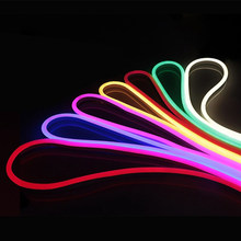 EU Plug 220V Neon light 1-10M Set soft Flexible neon sign Outdoor waterproof LED strip For Home Backlight Decoration Lighting(China)