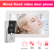 Intercom-Kit Unlock Camera-Support Video-Doorphone Electric-Lock Night-Vision Home-Color