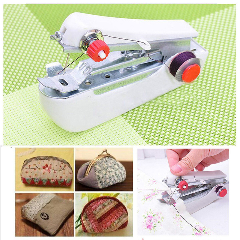 #<font><b>82018</b></font> Hot Product Mini Sewing Machine Handy Stitch DIY Random Color Home Daily Clothing Tool Accessories CM image