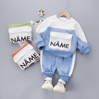 Baby Clothing Set Baby Boys Suit for Boys Casual Clothes Set Patchwork O-neck Top Pants Sport Infant Suits Spring Kids Clothes