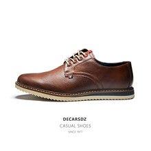 DECARSDZ bahar moda ayakkabılar erkekler marka tasarım dantel-up erkekler rahat ayakkabılar adam popüler kaliteli ofis eğlence ayakkabı erkek ayakkabısı