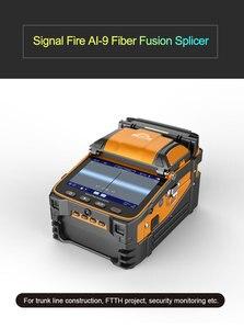 Image 1 - 信号火災 5 インチ TFT スクリーン AI 9 ファイバ融着接続機 FTTH プロジェクト 6 モーター光パワーメータ VFL