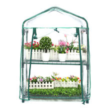 New 70x50x95cm 2 Layers Mini Greenhouse Home Outdoor Vegetables Flower Plant Pot Gardening Shelves Warm Room Winter Shelter Shad(China)