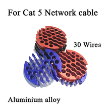 Network-Cable Arrangement Cleaning-Tools Computer-Room 30-Wires Cat5/cat6 for Comb Aluminum-Alloy