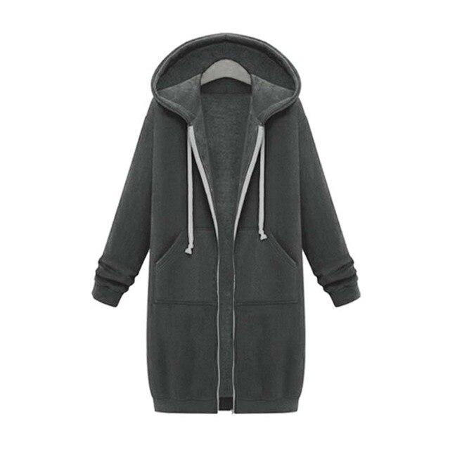 Купить осень зима 2020 длинные толстовки на молнии пальто для женщин картинки цена