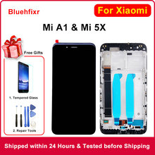 Ban Đầu Màn Hình LCD Xiaomi Mi A1 Màn Hình LCD Với KHUNG 10 Cảm Ứng Thay Thế Màn Hình Cho Xiaomi Mi 5X A1 miA1 Mi5X Màn Hình LCD