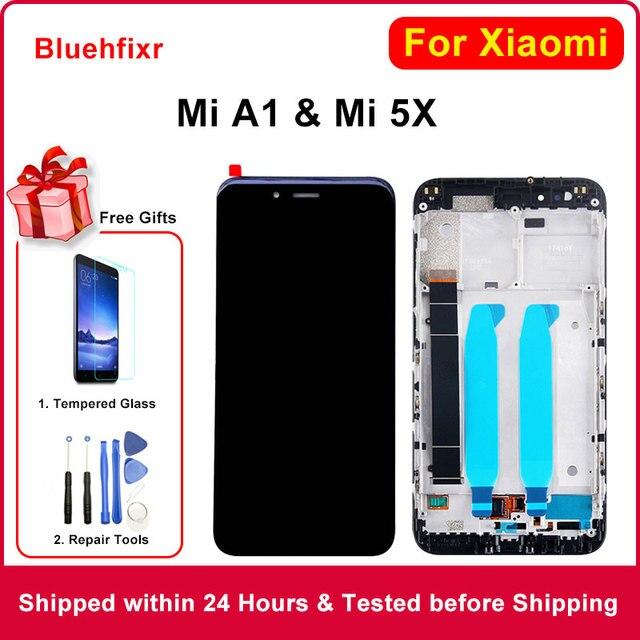 شاشة LCD أصلية لهاتف شاومي Mi A1 شاشة LCD بإطار 10 شاشة بديلة باللمس لهاتف شاومي Mi 5X A1 MiA1 Mi5X شاشة Lcd