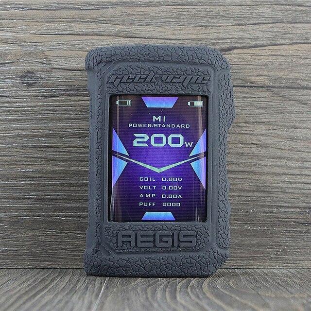 واقية غطاء من السيليكون ل Geekvape ايجيس X 200 واط vape غطاء المطاط الجلد الاعوجاج ملصق كم قذيفة بدن المثبط جل aegisx