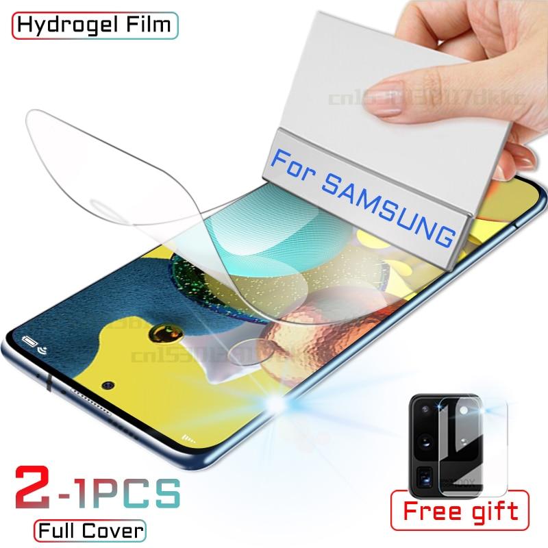 Hidrogel Film Para Protetor de Tela Samsung Galaxy A51 A50 A10 M31 A71 A20 A40 A30 A20E M21 A70 UM 51 50 10 20 E M 31 21 Não Vidro