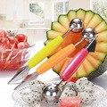 2 в 1 фруктовый инструмент, нож для резьбы по фруктам, фруктовая тарелка, блюдо для мороженого, ложка, «сделай сам», инструмент для резьбы по ф...