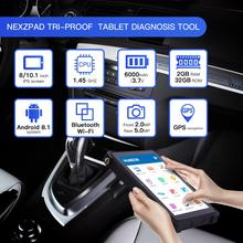 Humzor NexzPad With Bluetooth/WiFi Full System OBD2 8-inch Tablet Car Diagnostic Tool Key Programmer OBDII Car Repair Tool цены