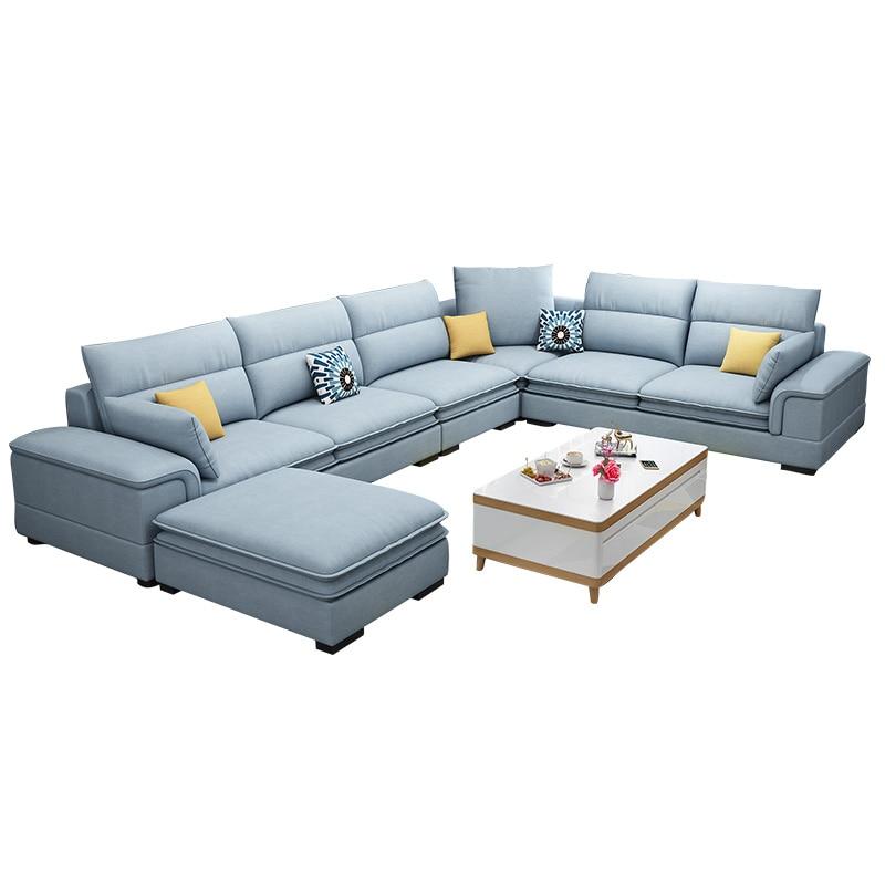 Nordic cloth sofa modern minimalist size living room technology cloth sofa combination set|Living Room Sofas| |  - title=