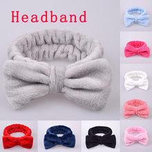 Повязка для волос флисовая женская, мягкая эластичная лента с узлом, кораллового цвета, аксессуар на голову