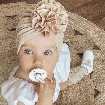 Flower Baby Hat Toddler Turban 6m-18m Infant Headwraps Kids Bonnet Newborn Toddler Beanie Cap