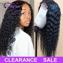 Kızılcık saç 4X4 kapatma peruk derin dalga peruk perulu saç dantel kapatma peruk % 100% Remy İnsan saç peruk kadınlar için 10 26 inç