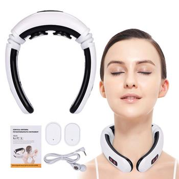 Electric Neck Massage Pulse Back Neck Massager Neck Pain Infrared Heating Pain Relief Relaxation Machine Shoulder Massager