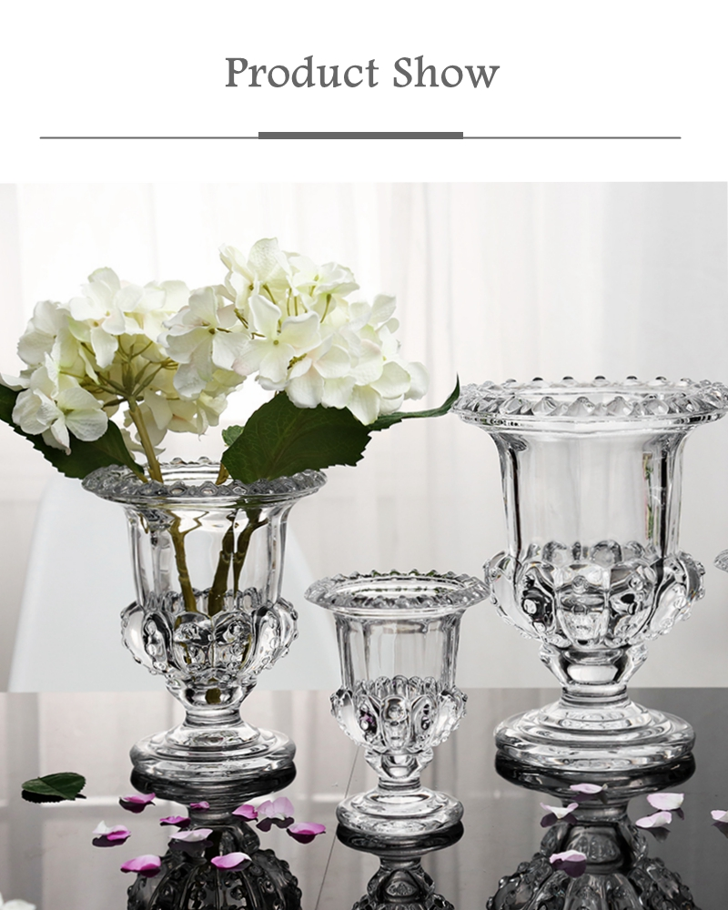 Fashion Crystal Decoration Vase Transparent Hydroponic Dried Flowers Decoration Ebay