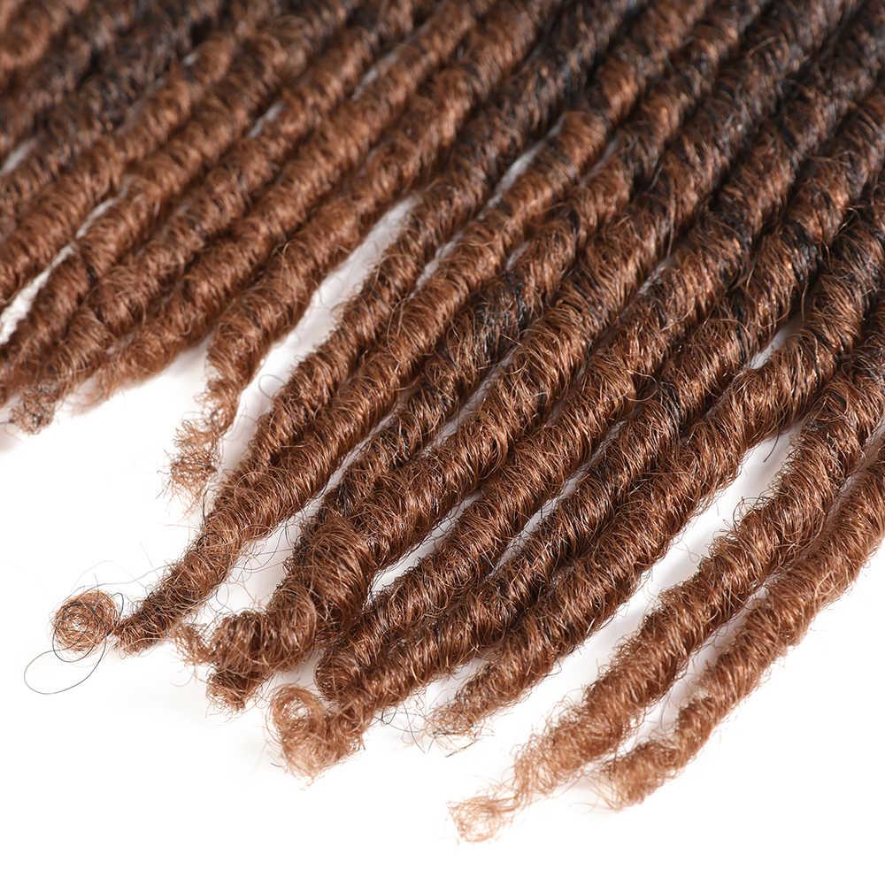 X-TRESS 18-26 дюймов мягкие дреды вязаные крючком косички Jumbo Dread прическа Омбре цвет синтетический искусственный Locs плетение волос для наращивания