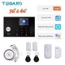 цена на Fast shipping in Spain IOS Android APP Control Wireless Home Burglar WIFI 3G&4G Alarm System Auto Dial Siren Alarm System Kit